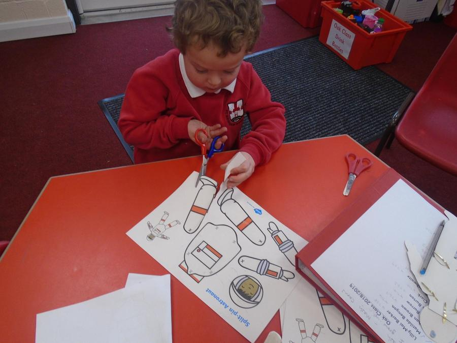 Space topic - making an astronaut