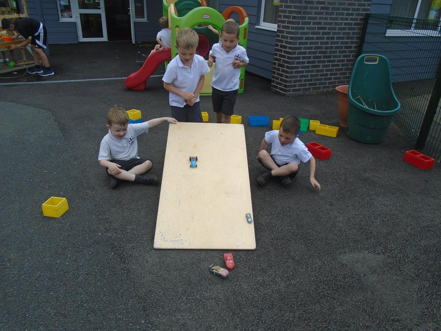 Testing cars and ramps