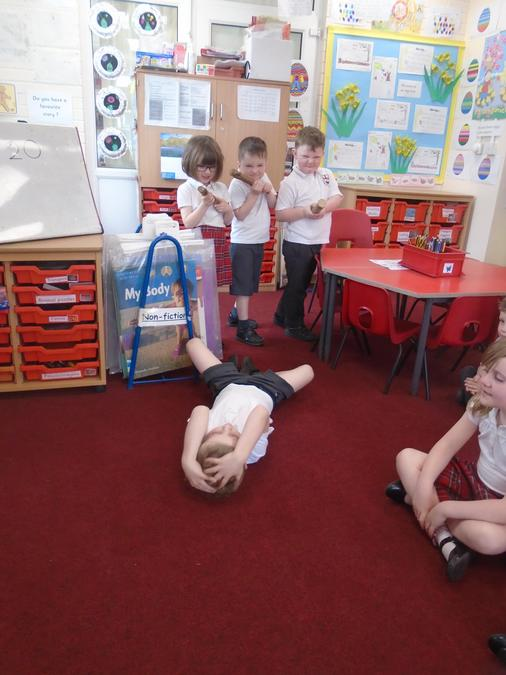 """Acting out the story """"The Good Samaritan"""""""