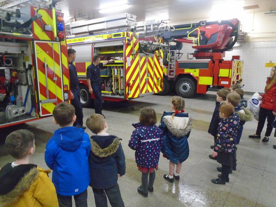 We saw 3 different fire engines