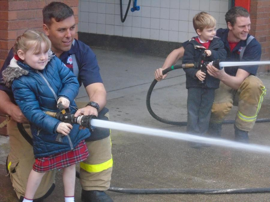 Fun with the fire hose