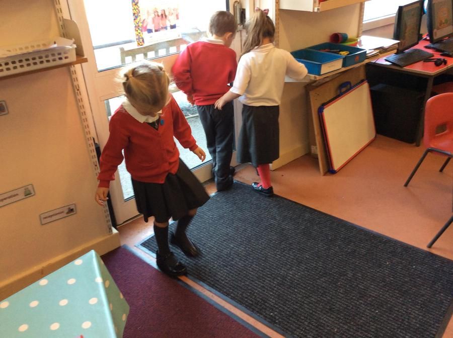 Measuring using feet