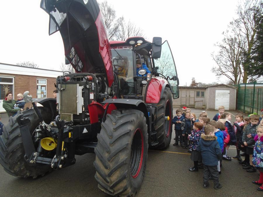 Mr Jolly brought in his tractor