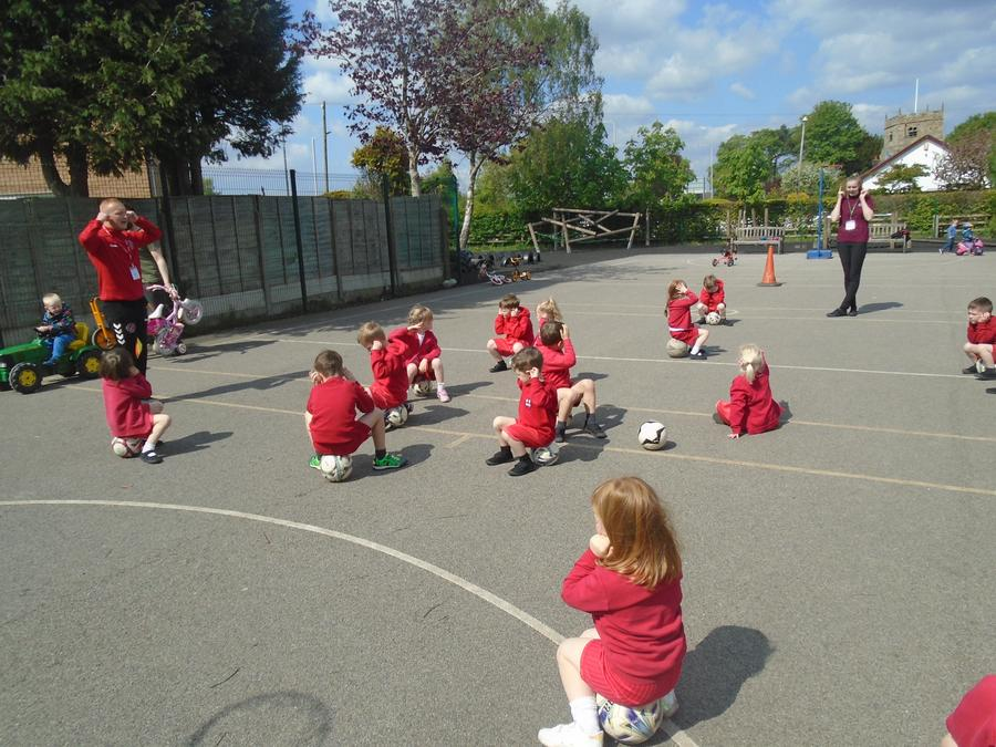Football skills with Mason from Fleetwood Town FC