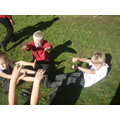 We created shadow monsters using our bodies.