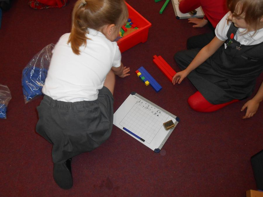 Using base 10 to help add numbers