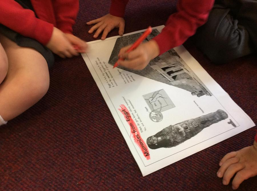 Looking at subheadings in non-fiction text