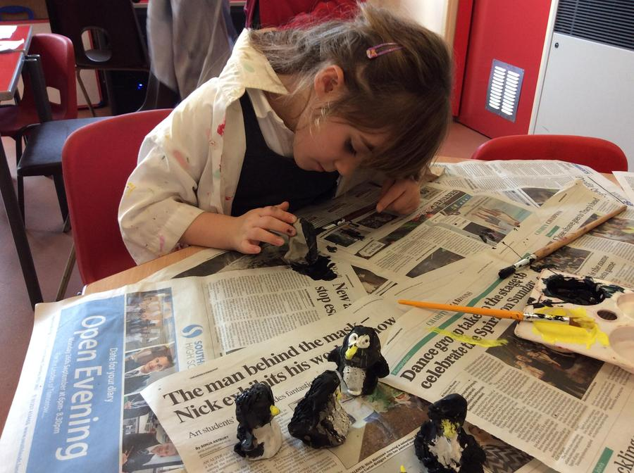 Painting our penguins