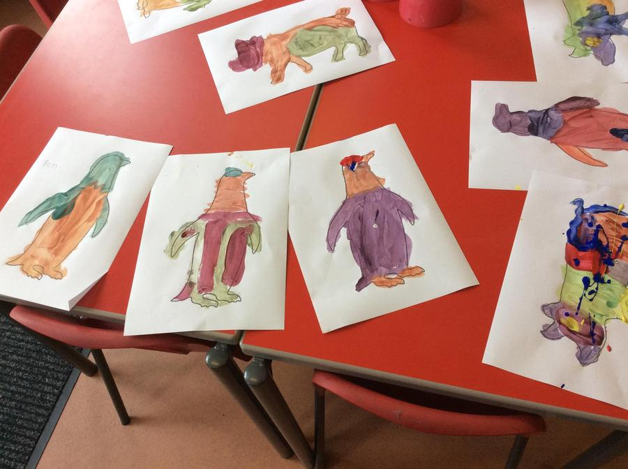 Our painted pigs and penguins