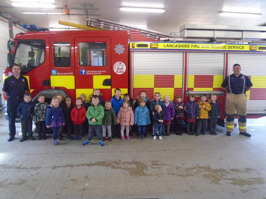 Oak Class and Nursery visit Blackpool Fire Station