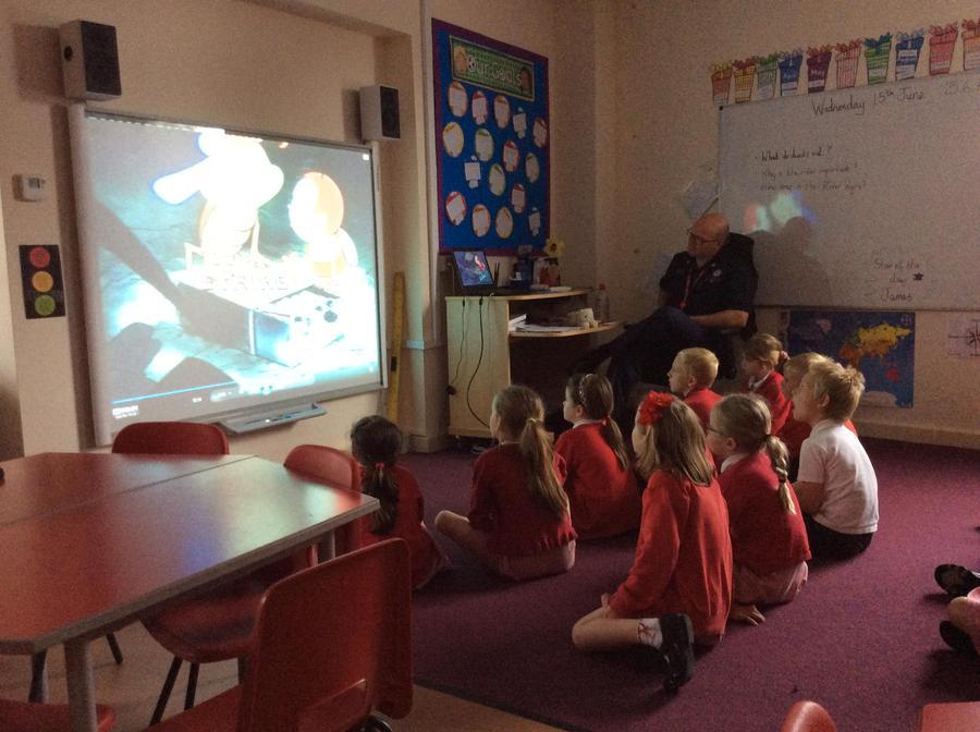 Watching an educational video