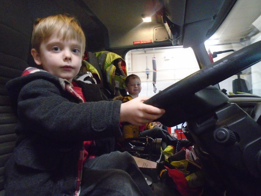 We went on the fire engine