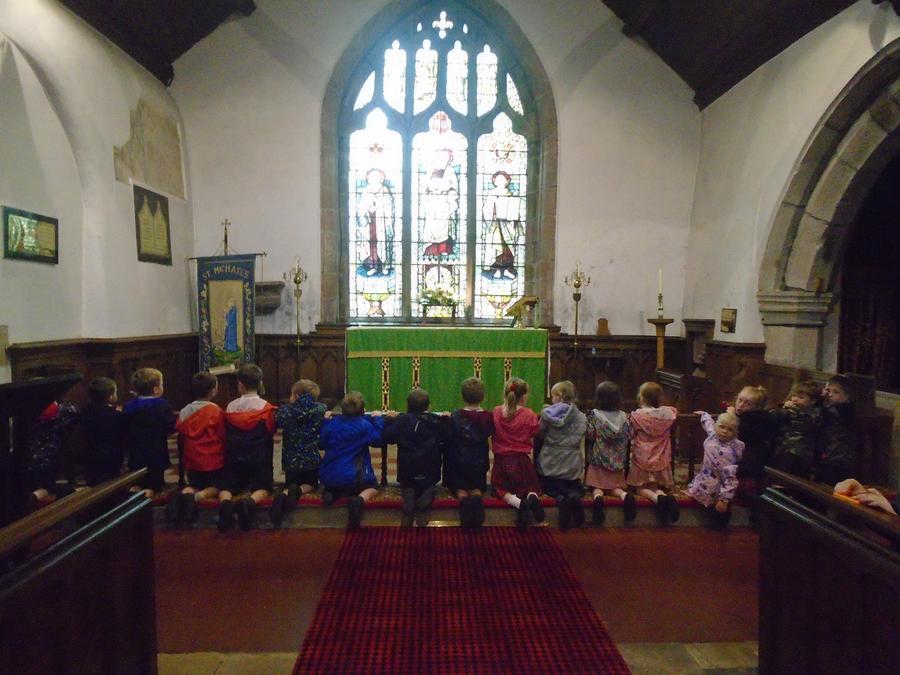 Kneeling at the altar rail