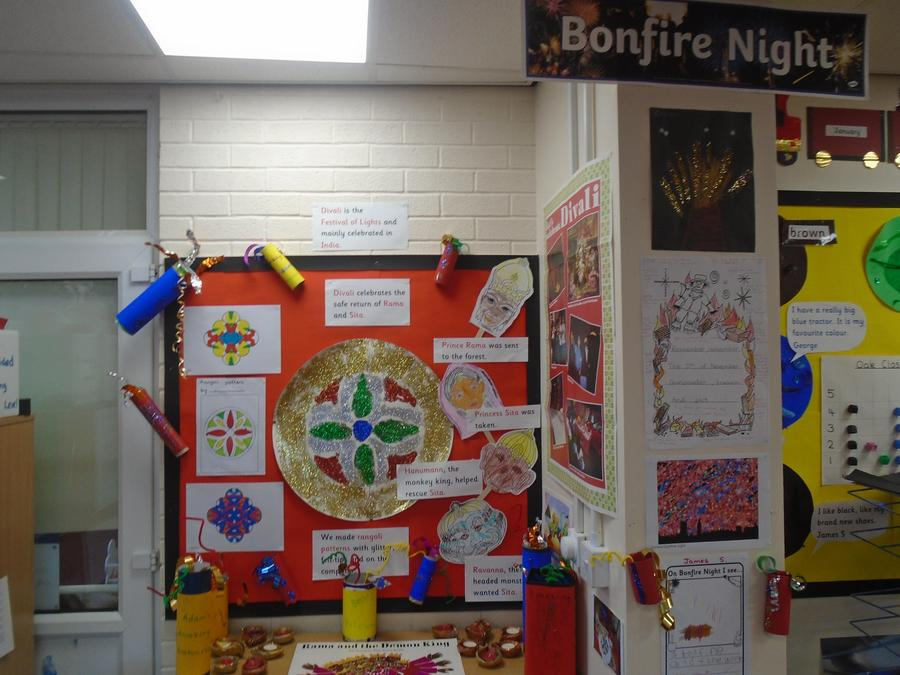 Divali and Bonfire Night - we made 3D fireworks