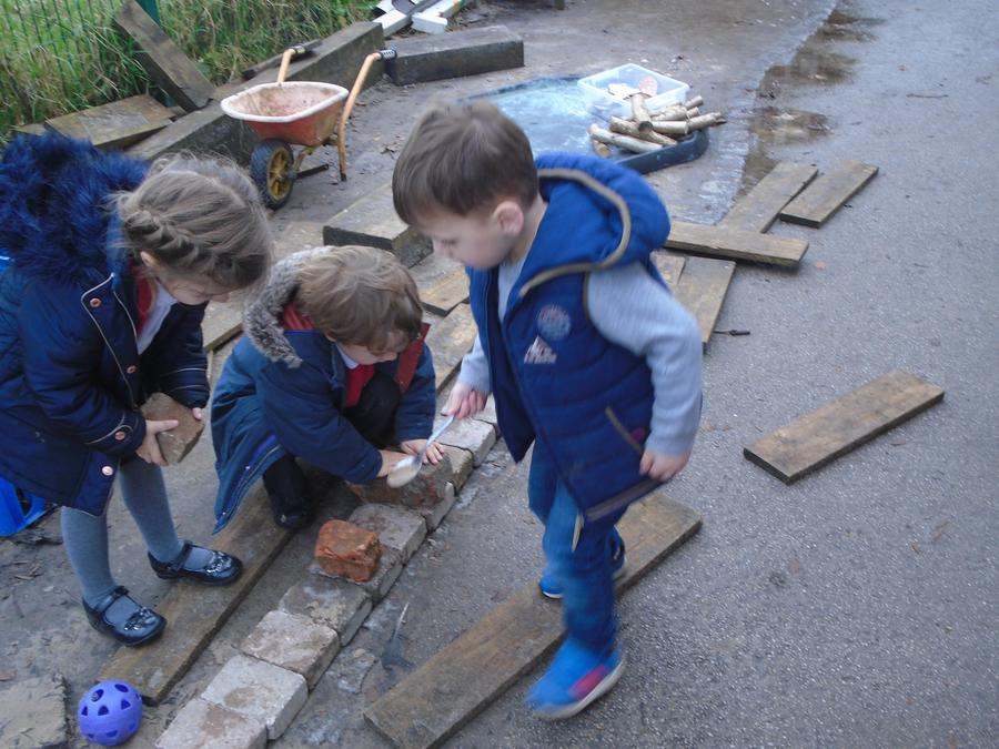Building using the planks and bricks