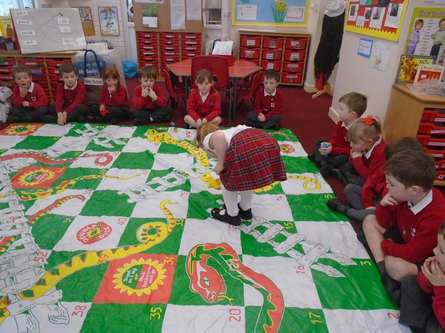 Whole class Snakes and Ladders