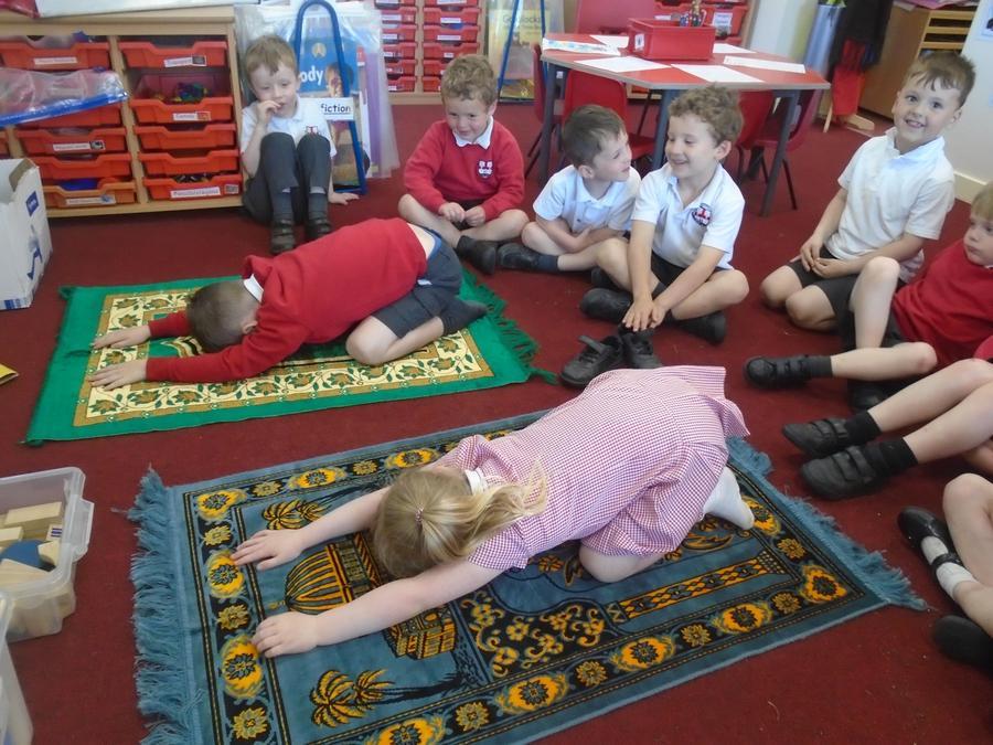 Using a prayer mat