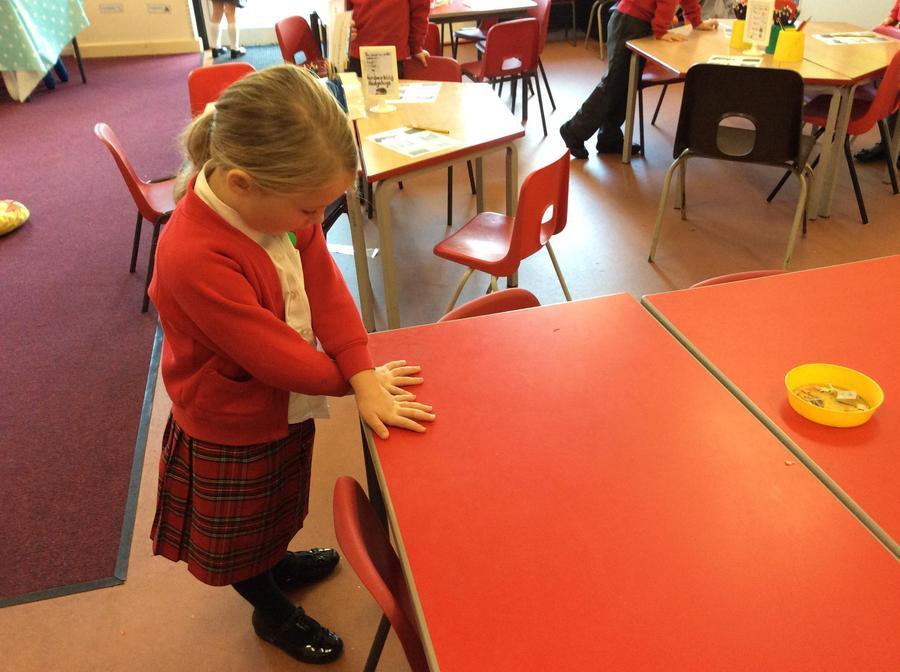 Measuring using hands