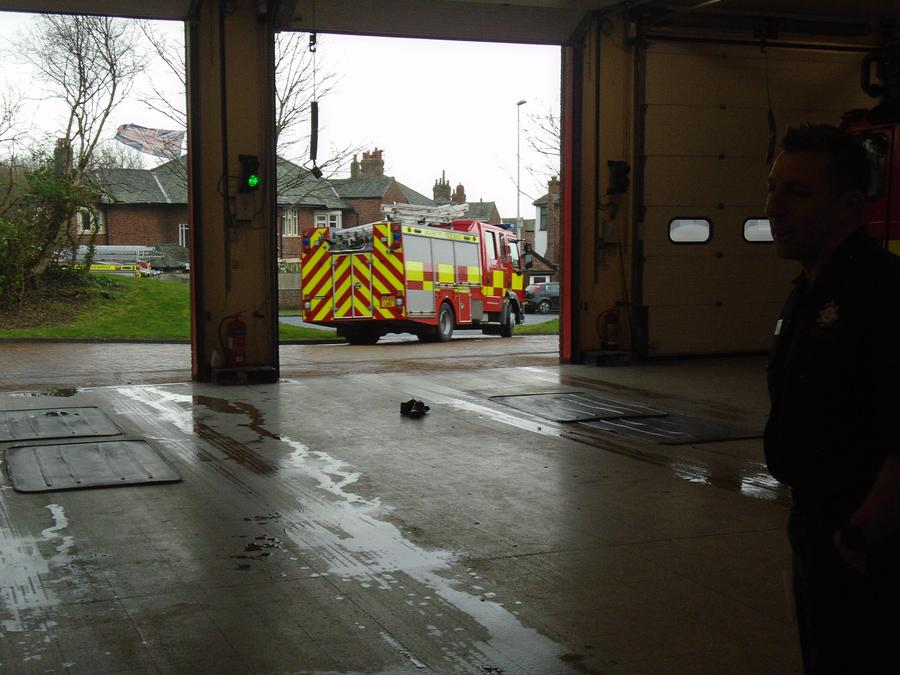A real emergency - a fire at the Model Village