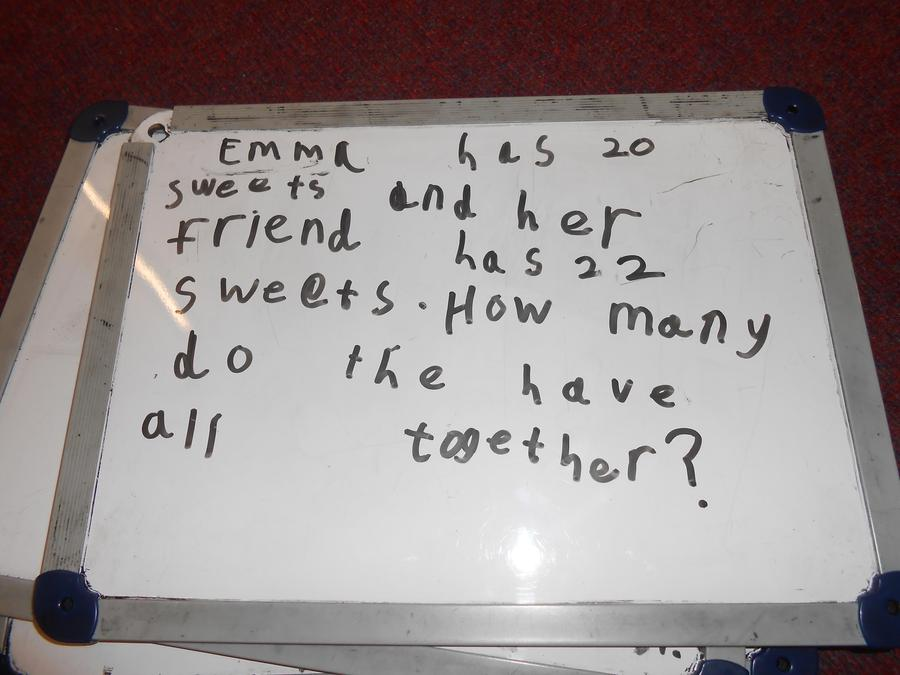 Creating number stories in maths