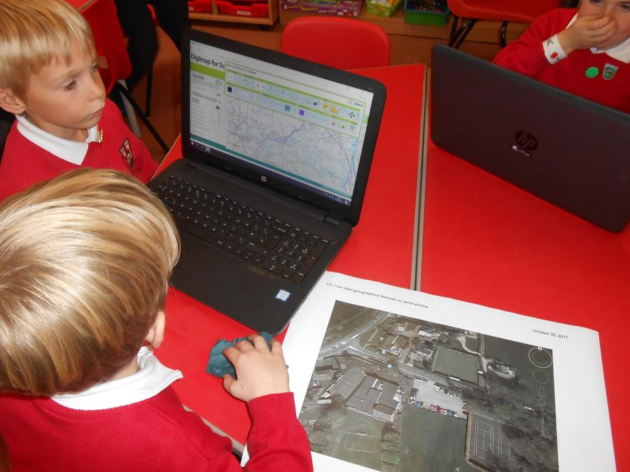 Using a digital map to show our village walk