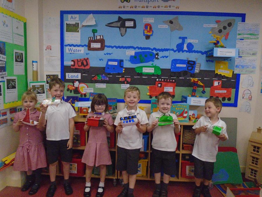 We made 3D boats