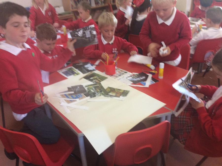 Sorting signs and photos of St. Michael's on Wyre