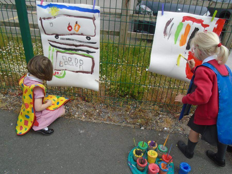 Free painting outside