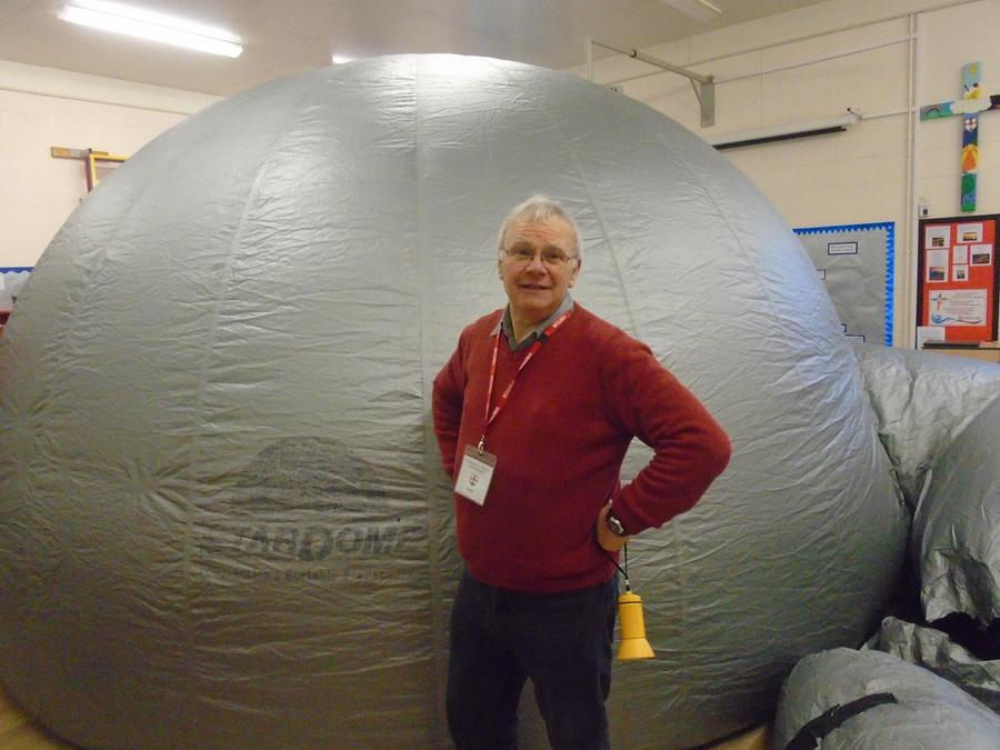 Oak Class went in the Planetarium