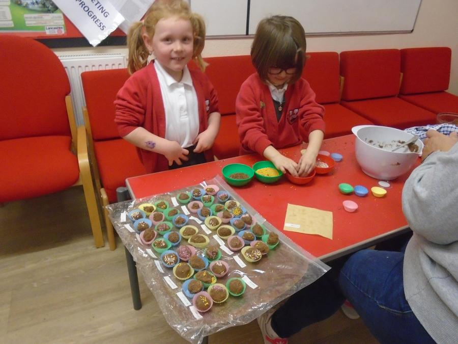 Making sweets for Divali