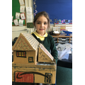 We made our own Pudding Lanes houses!