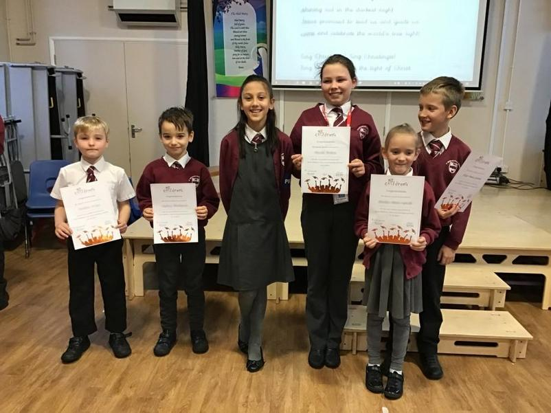 Six children from St. Michael's Children's University club received their Bronze Award.