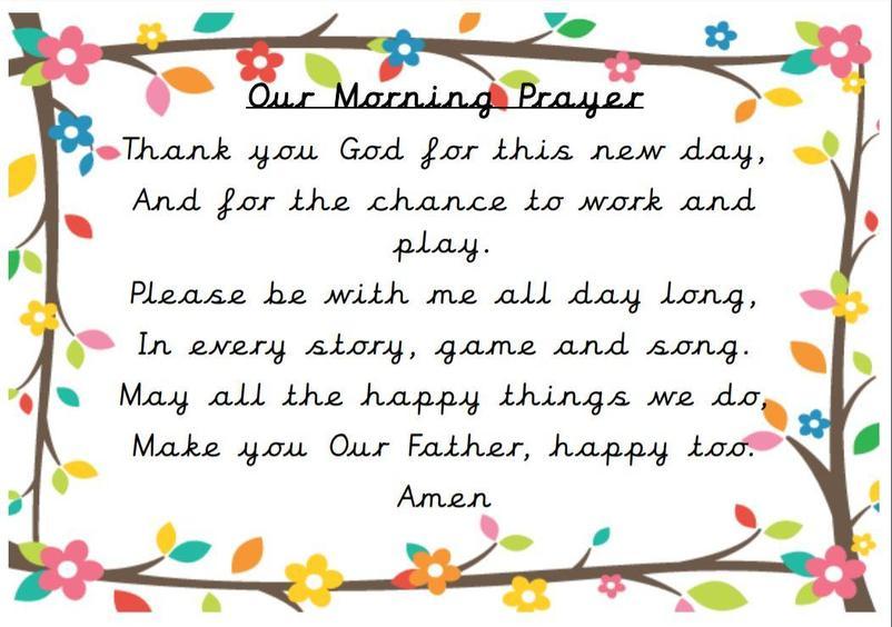 Our morning prayer