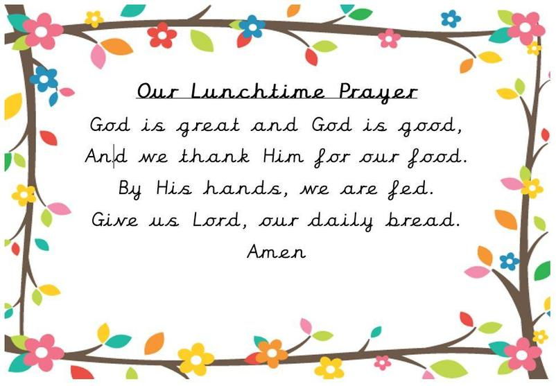 Our lunchtime prayer