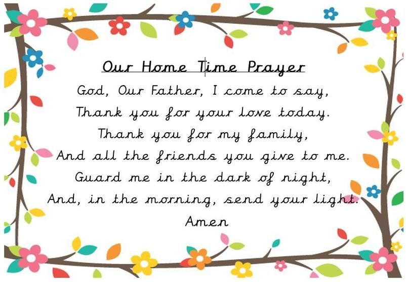 Our end of day prayer