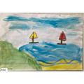 A seascape by Alana