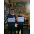 Overall KS2 Winner - Elliot & Jack