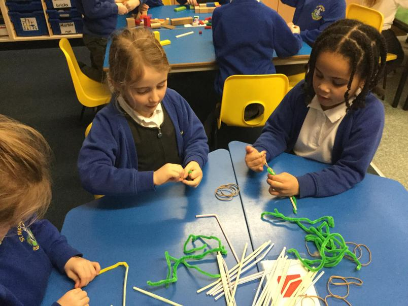 Pipe cleaners and straws?