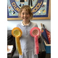 Georgie came 4th in a round for new riders & 5th in the mountain/moorland round.