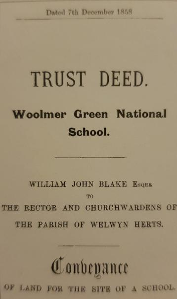 The donation of the land for a school to be built