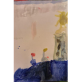 A seascape painting by Albie