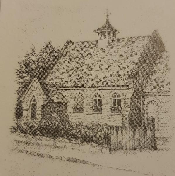Early picture of the school - about 1900