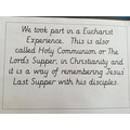 Our Eucharist Journey July 21