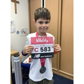 Well done to Jamie, who completed his run