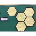 Elm wrote facts about bees and why they are important.