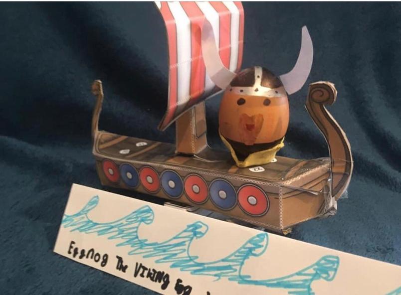 Edward Howard's (yr4) EggNog the Viking!