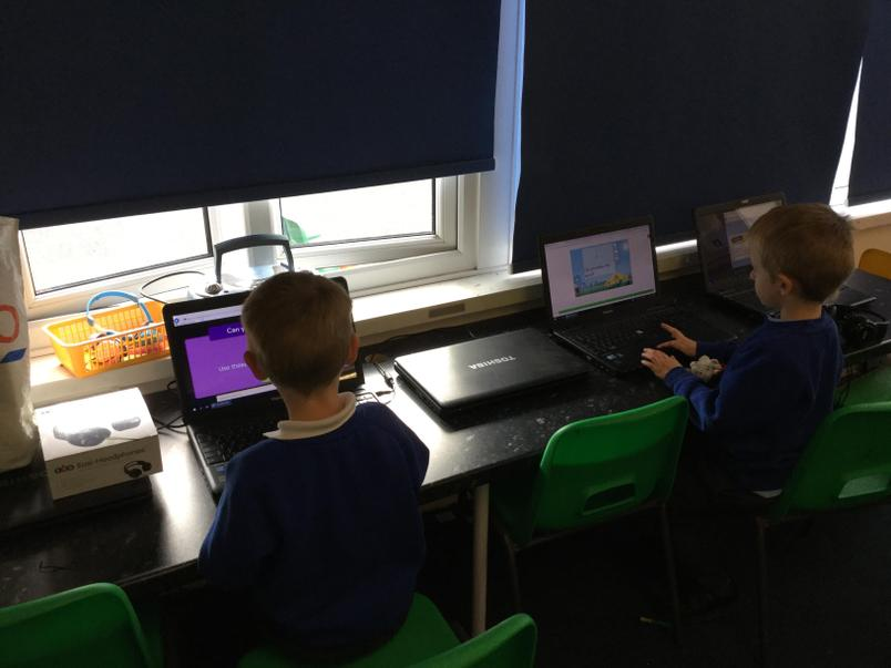 Learning to log on to the computer and explore Purple Mash