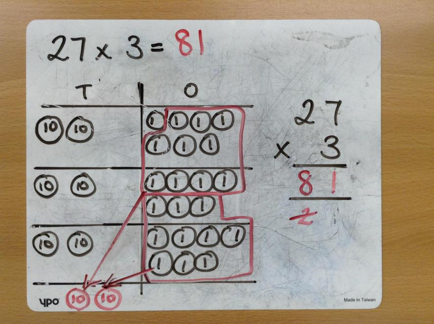 Example with Place Value Counters