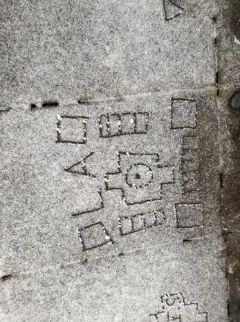Aztec Art in the snow!