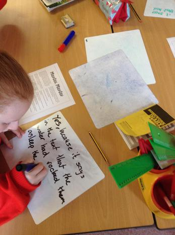 Using evidence from the text to support answers